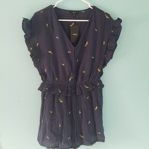 very J Blue Shorts Romper NWT Size Small